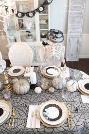 spooky glam halloween table classy halloween halloween table