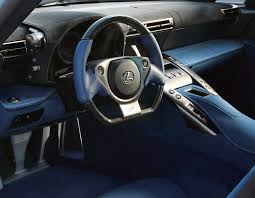 lexus lfa steering wheel lexus lfa with blue interior u0026 no remote touch lexus enthusiast