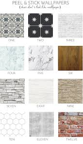 Best Peel And Stick Wallpaper by 12 Peel U0026 Stick Wallpapers That Don U0027t Look Like Wallpaper At All
