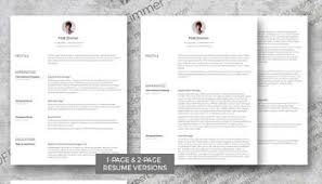 clever cv template pack a drop of green
