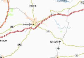kentucky map bardstown map of botland michelin botland map viamichelin