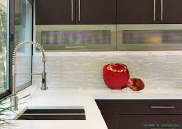 Modern Kitchen Tile Backsplash Ideas Modern Espresso Kitchen Marble Glass Backsplash