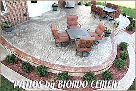 How Much Is A Stamped Concrete Patio by Raised Paver Patio Cost U2013 Smashingplates Us