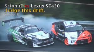 lexus sc430 0 60 scion tc vs lexus sc430 drifting youtube