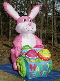 image rare gemmy 8 u0027 lighted easter bunny rabbit wegg cart