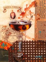manhattan drink illustration travis stewart arts portfolio travis stewart arts