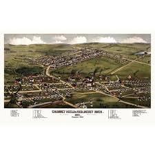 map of calumet michigan 4 vintage posters map of calumet michigan 1881 houghton county