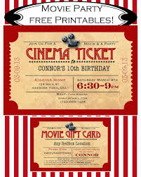 Printable Party Invitation Cards Like Mom And Apple Pie A Summer Of Movies Free Printables Free