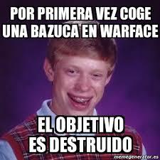 War Face Meme - meme bad luck brian por primera vez coge una bazuca en warface el