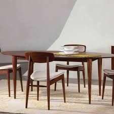 Maple Dining Room Sets Cona Ellipse Maple Dining Table By Saloom Furniture Yliving