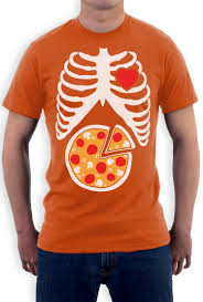 pregnant skeleton halloween shirt skeleton pizza xray ribcage pizza lover gift idea t shirt funny