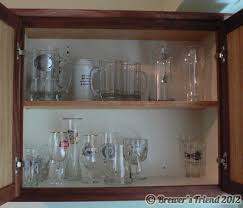 pint glass display cabinet beer glass cabinet in brewery brewer s friend