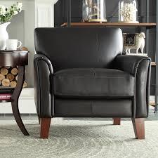homesullivan dark brown vinyl arm chair 409913pu 1tl the home depot