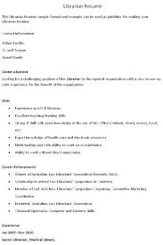 Librarian Resumes Teacher Of Visually Impaired Resume Sales Teacher Lewesmr