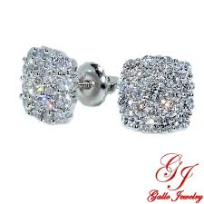 cluster stud earrings 115449 woman s diamond cluster stud earrings