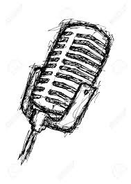 hand drawn microphone royalty free cliparts vectors and stock