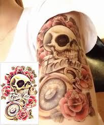 freedom skull u0026 roses sleeve tattoo tattooforaweek temporary