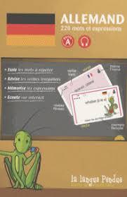 vocabulaire cuisine allemand cartes de vocabulaire allemand français partie a la langue