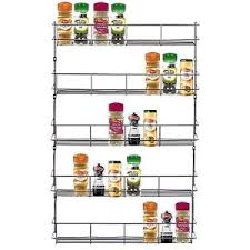 Wall Mount Spice Racks For Kitchen 5 Tier Chrome Door Wall Mounted Spice Rack Kitchen Cupboard Jar