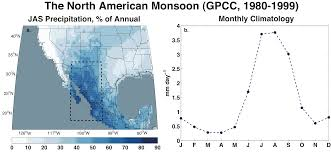 Future Map Of North America by Future Of North American Monsoon