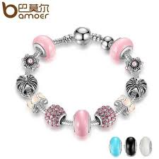 color charm bracelet images 3 colour high quality silver color charm bracelet pink murano jpg