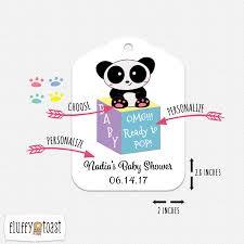 custom baby shower tags panda bear baby shower gift tags