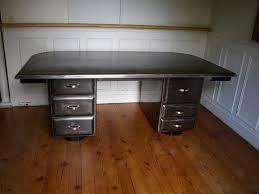 bureau m騁allique industriel bureau industriel métallique en acier brossé jpg tables bureaux