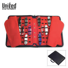 united cutlery large pocket knife storage case budk com knives