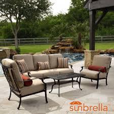 bocage 4 piece cast aluminum patio conversation set w sofa club