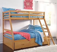 Signature Design By Ashley Hallytown Solid Pine TwinFull Bunk Bed - Solid pine bunk bed