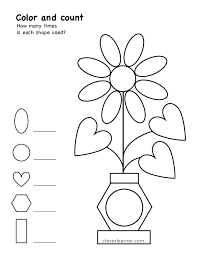geometric shape outlines print cut color worksheet 3d shapes trace