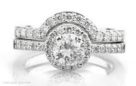 halo wedding rings images Diamond wedding rings and the halo setting jpg