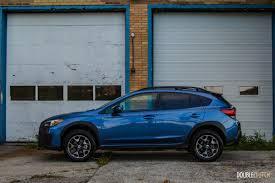 subaru crossover blue first drive 2018 subaru crosstrek doubleclutch ca