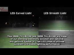 led light bar comparison lighting difference between straight and curved led light bar youtube