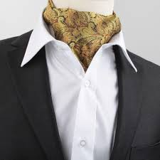 new men vintage wedding formal brand name cravat ascot scrunch