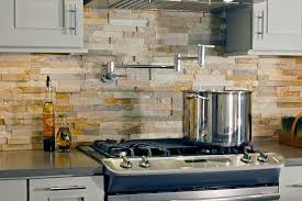 Stacked Stone Tile Backsplash - Layered stone backsplash