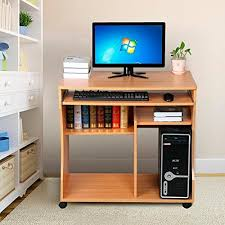 Mobile Computer Desks For Home Tinkertonk Mobile Computer Desk For Small Space With Keyboard Tray