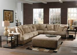 Sectional Living Room Sets by Contemporary Living Room Area With Two Tone Brown Leather Velvet