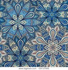 intricate vector flower pattern vector photo bigstock