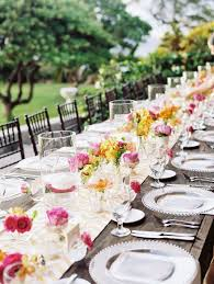 wedding table runners u2013 table setting ideas for a very special day