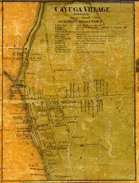 Cayuga County Map Map Of 1859 Cayuga Seneca County Ny Map