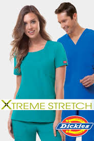dickies xtreme stretch scrubs scrub top infectious
