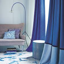 blue living room with indigo curtains living rooms room and