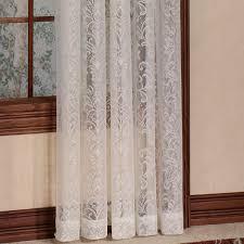 damask kitchen curtains mia damask lace window treatment
