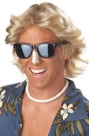 70s Halloween Costumes Men Brand 70 U0027s Men Blonde Feathered Hair Halloween Costume Wig Ebay