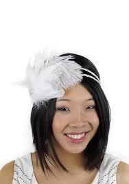 flapper headband white flapper headband with rhinestones