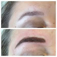 Permanent Makeup Eyebrows Hair Stroke Permanent Makeup Embroidery Hand Technique Paarl Cape Town