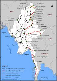 map of roads map of road networks in myanmar functioning as conduits for the