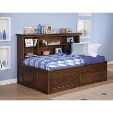 the best full size storage bed with bookcase headboard arpandeb com