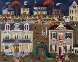 Bakery Story Halloween 2013 by Catherine Holman Folk Art 10 1 13 11 1 13
